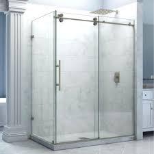 amusing frameless shower door rollers rectangle chrome polished bypass sliding glass shower door track twin roller