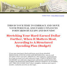 online family budget how to create a family budget plr ebook
