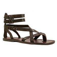Brown <b>men's gladiator sandals</b> Handmade in Italy | Gianluca - The ...