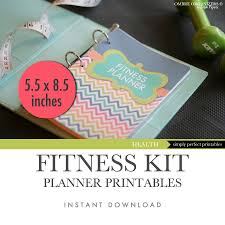 Weight Loss And Inches Tracker Half Letter Size Printable Fitness And Weight Loss Planner 5 5 X 8 5