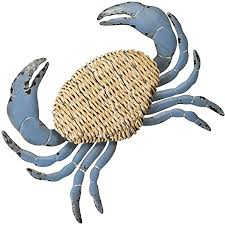 Whether you're looking to add a flashy wall accents, make a dull wall shine or simply looking for a perfect place to play with visuals, we've got your back. Amazon Com Cape Craftsmen Beautiful Springtime Brushed Metal And Rattan Crab Shaped Wall Decor 23 X 2 X 24 Inches Fade And Weather Resistant Decoration For Homes Apartments Yards And Gardens Home Kitchen
