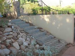 Cinder Block For Stairs In Backyard