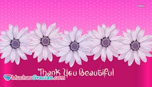 Thank You Beautiful Quotes Best Of Thank You Beautiful Muchasgraciaspics