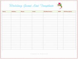 Party List Template Wedding Invitations List Template Lovely Wedding Party List Template