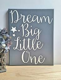 8x10 dream big little one wrapped canvas gray neutral nursery wall art decor on dream big little one wall art with amazon 8x10 dream big little one wrapped canvas gray neutral