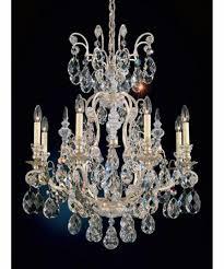 schonbek 3771 renaissance 27 inch wide 8 light chandelier with schonbek crystal chandelier