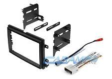 ford focus wiring harness double 2 din car stereo radio dash kit mounting trim bezel w wiring harness plug