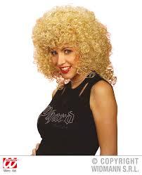 Ladies Blonde Curly Perm Wig Poodle Hair 70 S Fancy Dress Kylie
