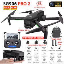 (NEW 2020) BỘ 2 PIN TẶNG KÈM BALO - Máy bay Flycam ZLRC SG906 Pro 2 camera  4k, gimbal chống rung 3 trục, Bay xa 1200m, Thời gian bay max 26 phút, Hai  camera kép, GPS Camera Wifi 5G - BẢO HÀNH 6 THÁNG