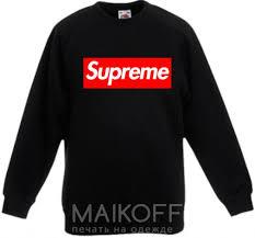 <b>Детский Свитшот Supreme</b> logo