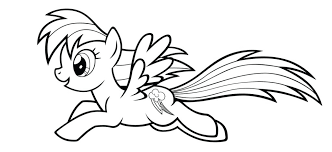 Coloring Pages For My Little Pony Coloring Pages For Rainbow Dash