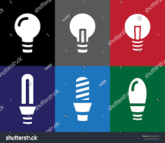 vector square blue icon lighting bulb. set of light bulb icon in stencil style vector square blue lighting r