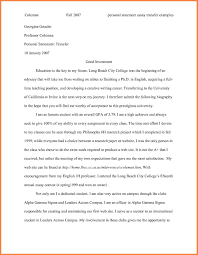Personal Statement Essay Examples For College 24 Undergraduate Personal Statement Essay Examples Personal 11