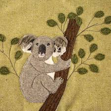 tweed bag | applique | <b>sloth</b>, chill out | patchwork and quilting ...