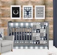 baby boy crib bedding woodland nursery