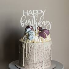 Happy Birthday Cake Topper Love Plus Design