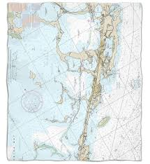 Tide Chart Key Largo Fl Key Largo Fl Close Up Nautical Chart Blanket