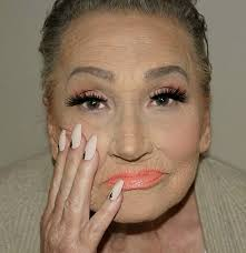 old woman makeup plete with sagging jowels tiny 3 contouring goals though