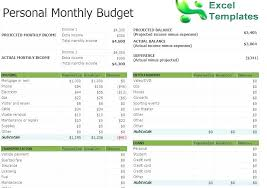 Personal Monthly Budget Spreadsheet Monthly Budget Spreadsheet Excel Personal Monthly Budget Worksheet