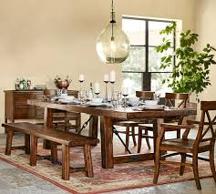 Benchwright Extending Dining Table + Bench Set