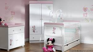 obaby disney minnie mouse 3 piece double room set white with pink trim