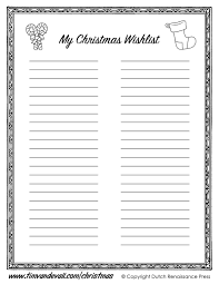 Christmas Wish List Printable Printable Christmas Wishlist Template For Kids 11