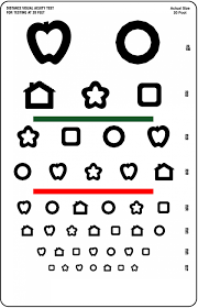 Vision Acuity Chart Snellen Chart Kids Learning Activity