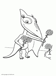 Small Picture Dinosaur Train Coloring Page Free Printable Coloring Pages