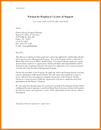 Letter Of Support Template Art Resume Examples