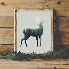 deer silhouette wall art