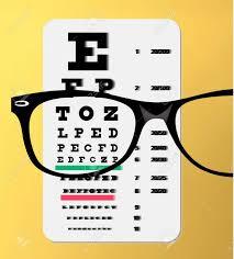 Eye Chart Poster Free Stock Illustration