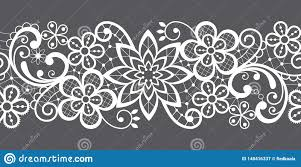 Romantic Embroidery Designs Romantic Seamless Lace Vector Pattern Decorative Textile Or