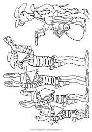 Disegno Lucky Luke Dalton Personaggio Cartone Animato Da Colorare