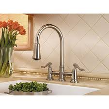 Kitchen Faucets Brushed Nickel Brushed Nickel Ashfield 2 Handle Pull Down Kitchen Faucet Lg531