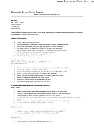Community Service Worker Resume Search For Thesis Template For