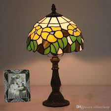 2019 8 inch newest e27 handmade european style vintage stained glass light bedroom living room decorative table lamp bar cafe bedside lampe from tiffanylamp