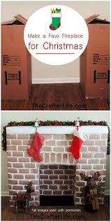 diy faux fireplace made from wardrobe cardboard bo