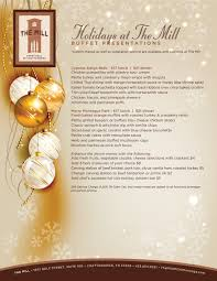 Holiday Menu The Mill Corporate Holiday Party And Event Venue Chattanooga Tn
