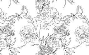 White Floral Pattern Wallpaper ...