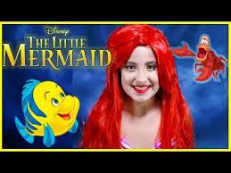 disney s ariel makeup tutorial the little mermaid costume flounder kids toys princess