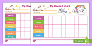 Unicorn Star Chart Unicorn Reward Charts Behaviour Management House Points
