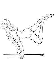 gymnastic coloring pages awesome balance beam artistic gymnastic coloring page usa gymnastics coloring sheets