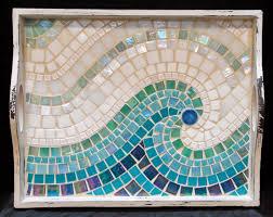 Cool Wave Mosaic Serving Tray MOT3031
