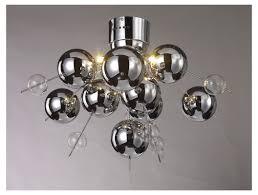 glass ball chandelier diy