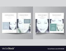 Fold Flyer Business Templates For Bi Fold Brochure Magazine Vector Image