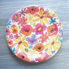 flower paper plates flower paper plates barca fontanacountryinn com