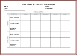 Creative Curriculum Lesson Plan Template | World Of Template With ...