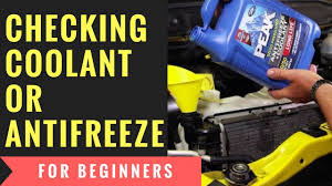 checking coolant or antifreeze for beginners