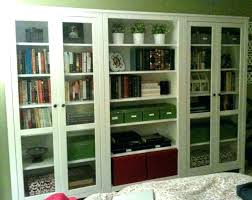 bookcases with sliding glass doors door bookcase white wood