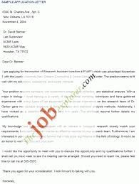 sample of job application letters cover letter templates samples of application letters